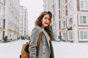 Happy Women in Winter