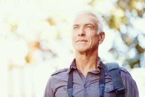 Elderly man enjoying the outdoors after Cataract Surgery