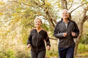 Senior Couple Jogging