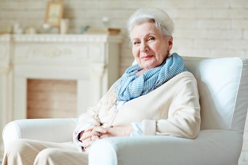Older woman smiling after LASIK